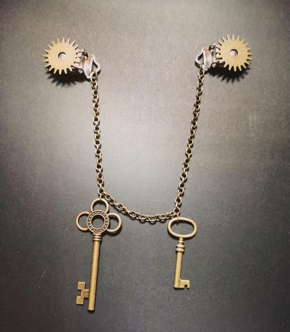 Steampunk vaatekoru avaimet