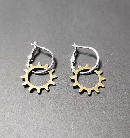 Hinge gear earrings 2