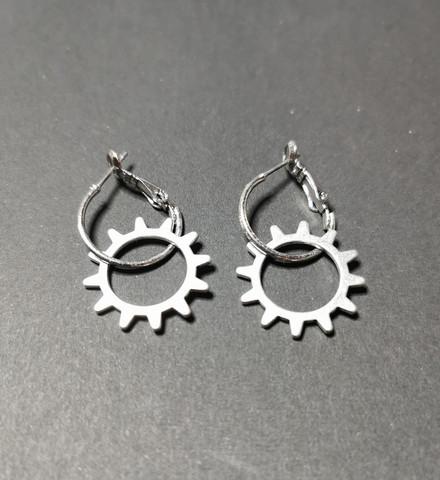 Hinge gear earrings 3