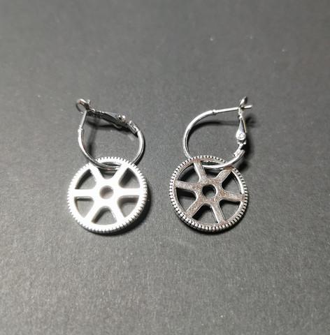 Hinge gear earrings 4