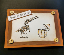 Easter card with skeleton bird