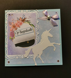 Lilac unicorn Graduate card