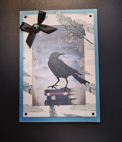 Crow and alchemy card