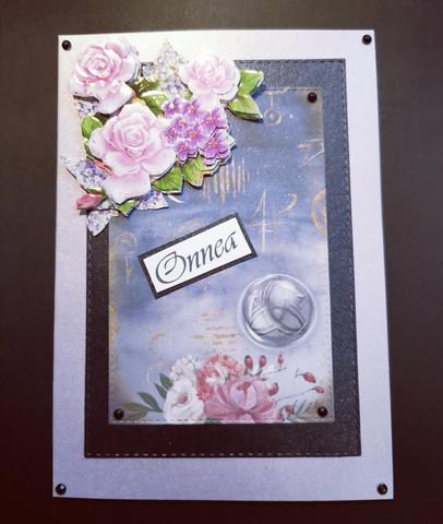Flower card with alchemy