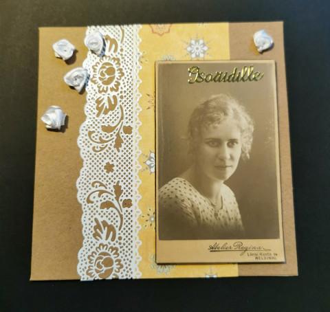 Kortti isoäidille vintage