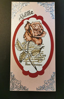 Long mother's day card with rose