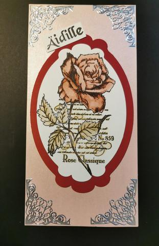 Pitkä kortti ruusu äidille