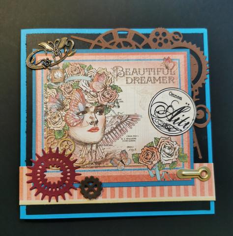 Steampunk äitienpäiväkortti