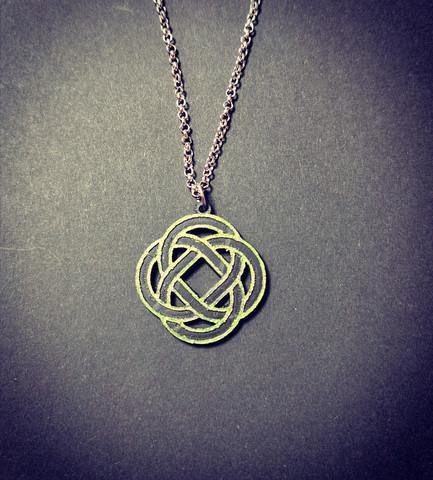 Green celt symbol necklace