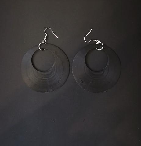 Large black earrings
