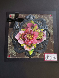 Handmade dark flower mother's day card