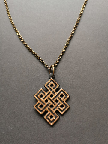 Bronze colored celtic knot necklace
