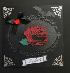 Tumma ruusu kortti äidille