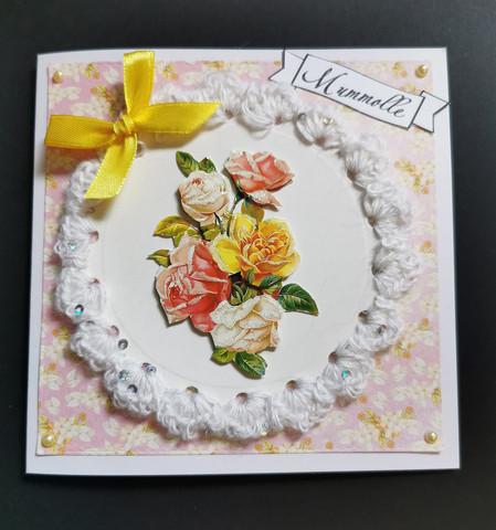 Handmade card with bow for grandma