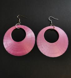 Large pink earrings