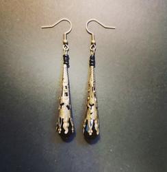 Black medieval earrings
