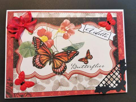 Kortti äidille perhoset