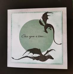 Dark green dragon card