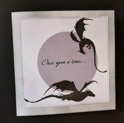 Dragon card violet