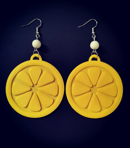 Big lemon earrings