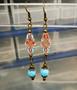Bohemian earrings - light blue