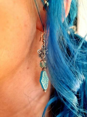 Boheemian korvakorut - taivaan sininen