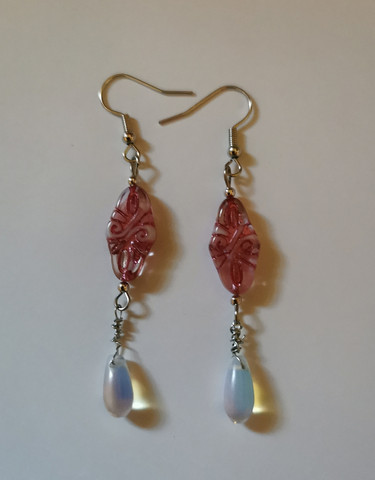 Bohemian earrings - pink