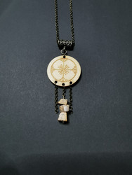 Rune necklace with stone beads