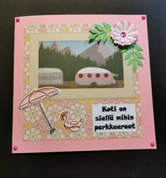 Pink Camper card