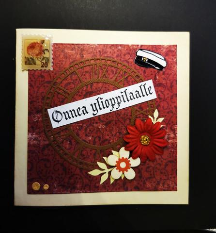 Vintage graduate card
