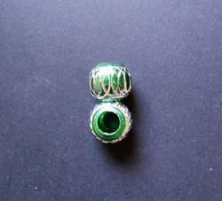Takkuhelmi vihreä hopeanvärinen kuvio