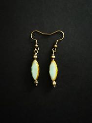 Greenish earrings