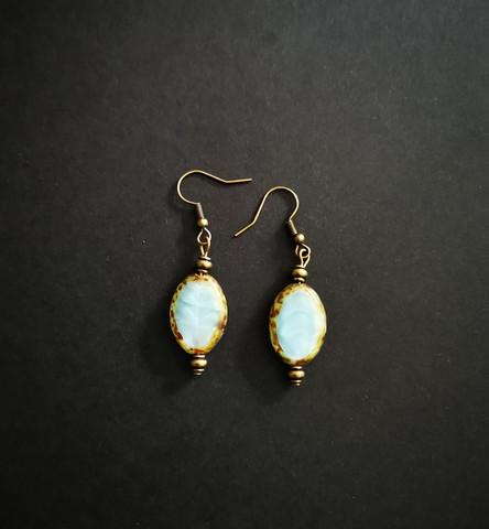 Blueish earrings