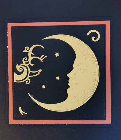Moon handmade card