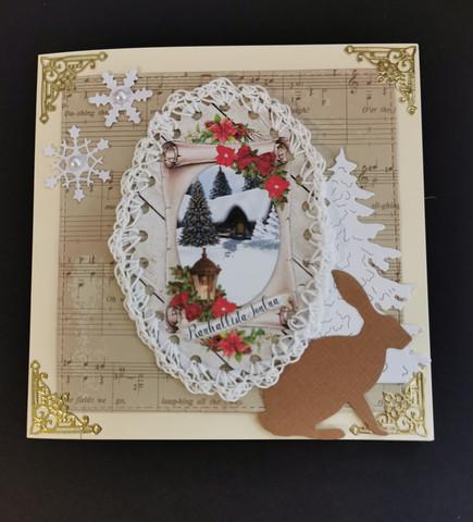Bunnie christmas card