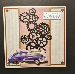 Father's day card automobile