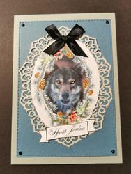 Wolf themed Christmas card