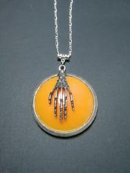 Orange skeleton necklace