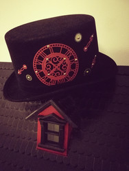 Steampunk hat with red