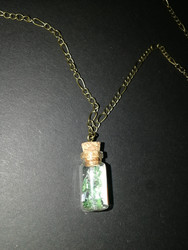 Bottle necklace scales of sea witch