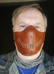 Brown biker mask