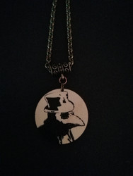 Round Black Plague Doctor Necklace