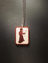 Reddish Plague Doctor Necklace