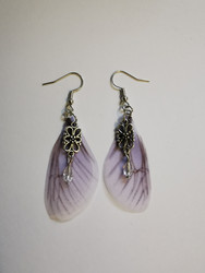Lilac fairy wing earrings