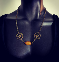 Steampunk jewelry set