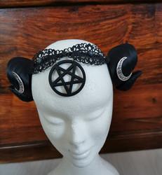 Hancrafted pentagram horns