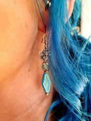 Bohemian earrings - sky blue
