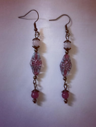 Bohemian earrings - lilac