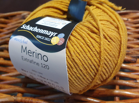 Merino extrafine 120 sinappi 00126