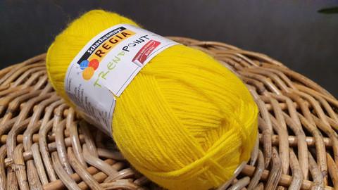 Regia TrendPoint villasekoitelanka, väri 06612 kirkas keltainen